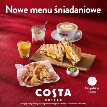 Zupełnie nowe menu śniadaniowe w Costa Coffee