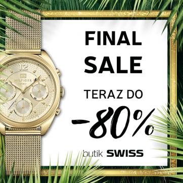 Finał wyprzedaży w butiku Swiss – teraz do -80%
