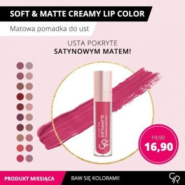 Produkt miesiąca Golden Rose – Soft&Matte Creamy Lip Color