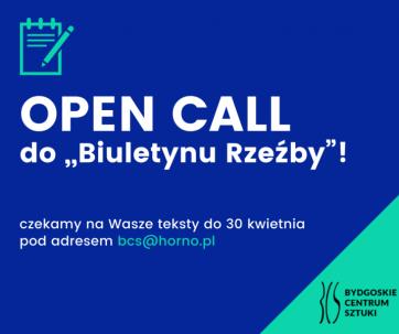 "Open call do ""Biuletynu Rzeźby"""