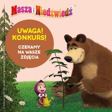 Konkurs na Facebooku – Masza i Niedźwiedź!